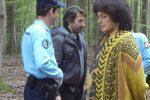Anny Duperey se concentre lors du tournage en forêt de Westhoffen- Vu par ICI