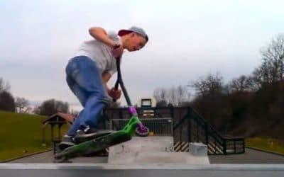 Trottinette au skatepark de Wasselonne - Bas-Rhin - Strasbourg - Alsace