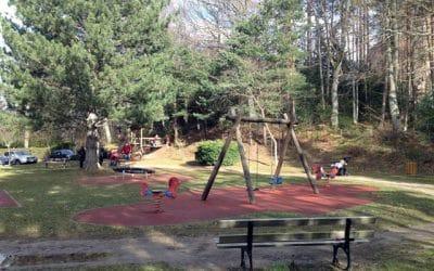 Aire de jeux avec structure enfant