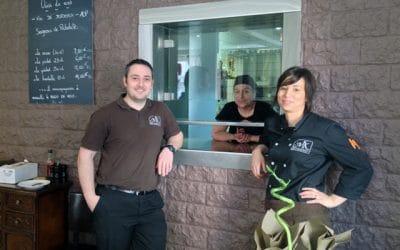 Marie et Quentin Knodere au restaurant MK à Westhoffen