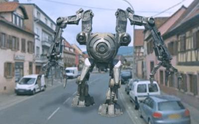 Un robot dans les rues de Marlenheim