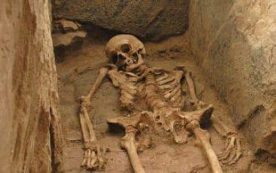 Squelette humain d'une sépulture à Odratzheim
