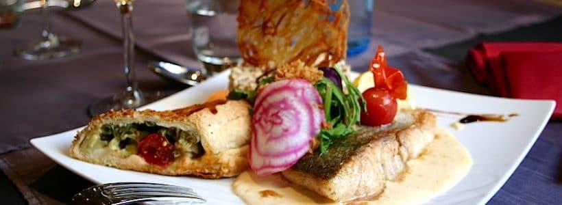 Une assiette de poisson à la Charrue d'Or à Westhoffen