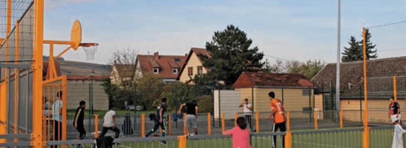 Un espace de jeu et de sport city stade de Marlenheim