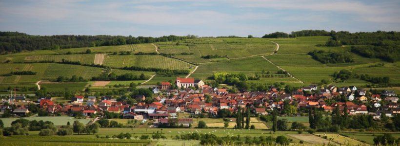 Une vue de Dangolsheim où se trouve le Gîte de La Maison de Pamela