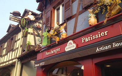 La façade de la Boulangerie Patisserie Heitz à Marlenheim
