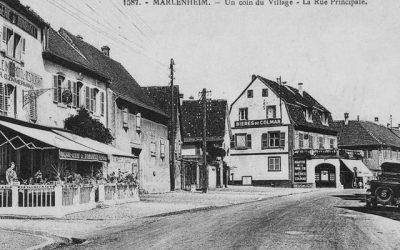 La rue principale de Marlenheim aujourd'hui