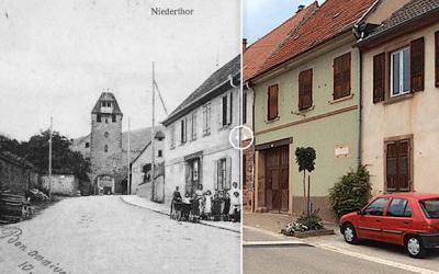 Des vues du village de Wangen en Alsace hier et aujourd'hui - vuparici