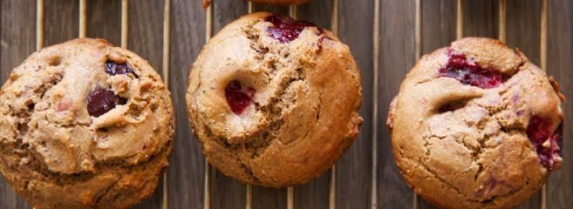Muffins aux prunes sans lait, sans gluten, sans beurre et sans oeufs