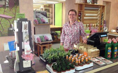 La fleuriste Barbara Griess à Westhoffen - vuparici