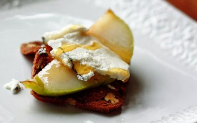 Une recette de poire au miel et chevre