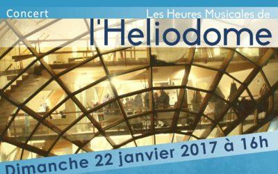 Une affiche de concert de musique de chambre à l'Héliodome