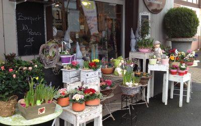 La vitrine du fleuriste Bouquet de Suzel à Marlenheim