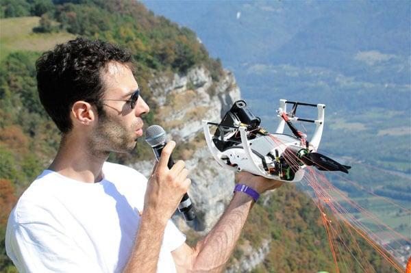 Julien Lerch présente son drone