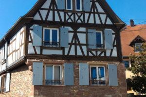 une maison à Wasselonne comportant l'emblème d'un métier d'autrefois